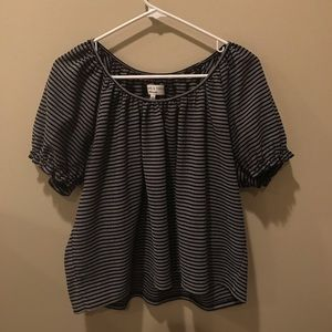 Madewell Texture and Thread Striped Top